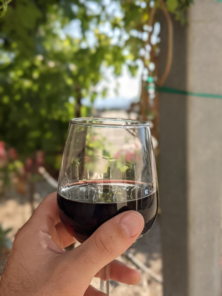 Glass of Sangiovese from Leoness Cellars in Temecula, CA